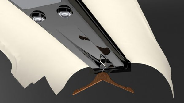 RV-10 Carbon Fiber Overhead Console Rendering