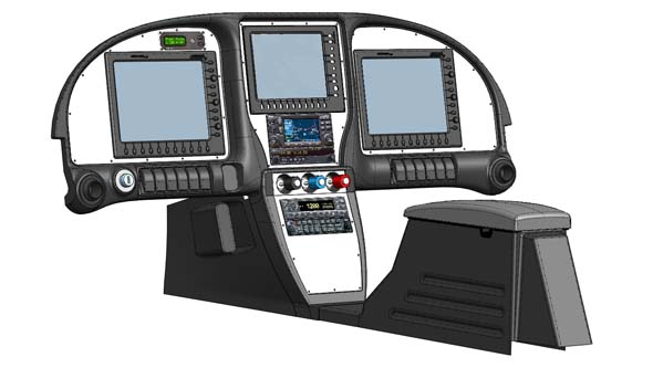 three EFIS configuration