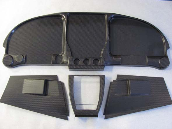RV-10 Carbon Fiber Symmetrical Instrument Panel w/ lower console